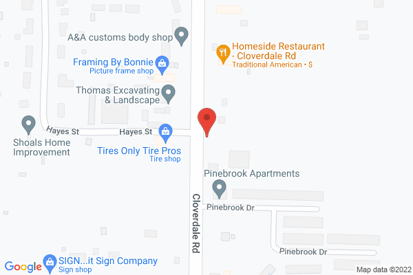 Mapped location of Homeside Restaurant - Cloverdale Road