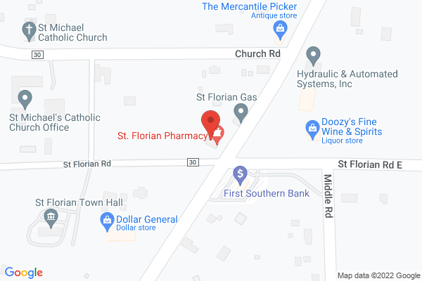 Mapped location of St. Florian Pharmacy