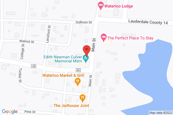 Mapped location of Waterloo Lodge