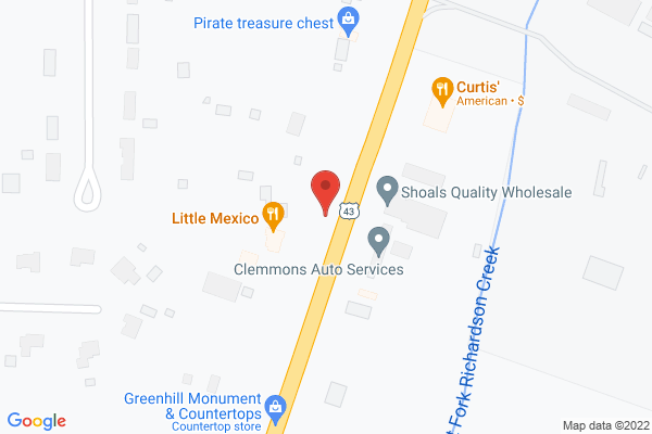 Mapped location of Curtis' Restaurant