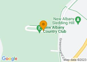 Google Maps map of 1 Club Lane, <br/>New Albany , Ohio 43054