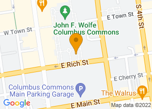Google Maps map of 160 S High Street, <br/>Columbus , Ohio 43215