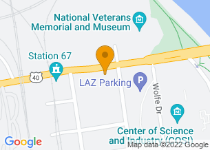 Google Maps map of 303 W Broad Street, <br/>Columbus , Ohio 43215