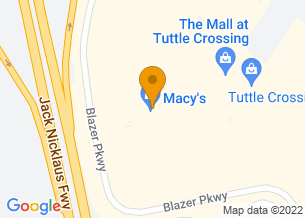 Google Maps map of 5123 Tuttle Crossing Blvd, <br/>Columbus, OH 43016