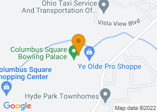 Google Maps map of 5707 Forest Hills Blvd, <br/>Columbus, OH 43231