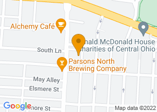 Google Maps map of 646 Parsons Ave, <br/>Columbus, OH 43206