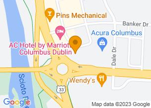 Google Maps map of 6520 Riverside Dr, <br/>Dublin , Ohio 43017