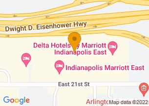 Google Maps map of 7202 E 21st St., <br/>Indianapolis, IN 46219