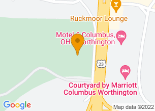 Google Maps map of 7459 N High Street, <br/>Columbus, OH 43235
