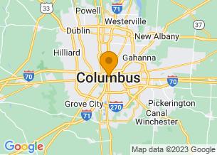 Google Maps map of <br/>Columbus , Ohio 43215