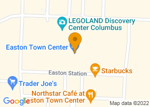 Google Maps map of Easton Town Center, <br/>Columbus, OH 43219