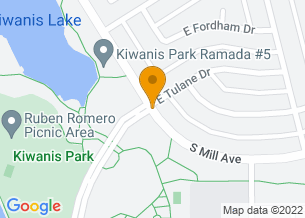 Google Maps map of Mill Ave and All America Way, <br/>Tempe, Arizona 85283