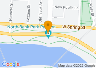 Google Maps map of Neil Ave and Long Street, <br/>Columbus, OH 43215