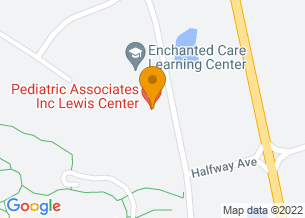 Google Maps map of Pediatric Associates, 7420 Gooding Blvd., <br/>Delaware, OH 43015