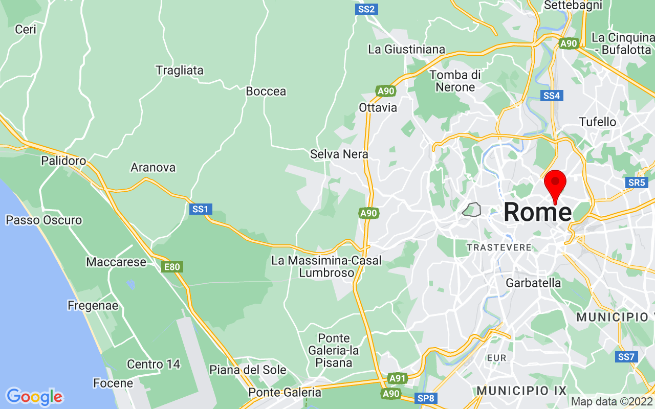 Google Map of Viale Castro Pretorio, 105
