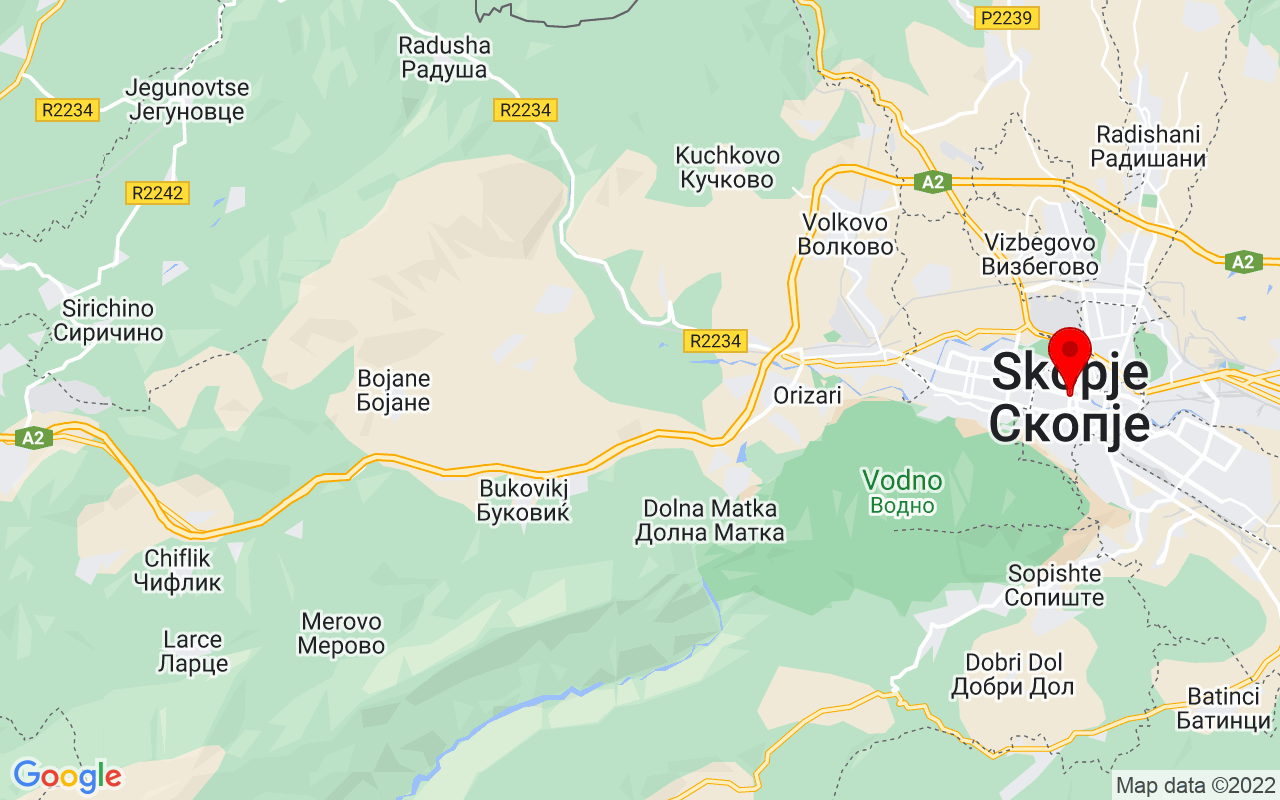Google Map of Skopje