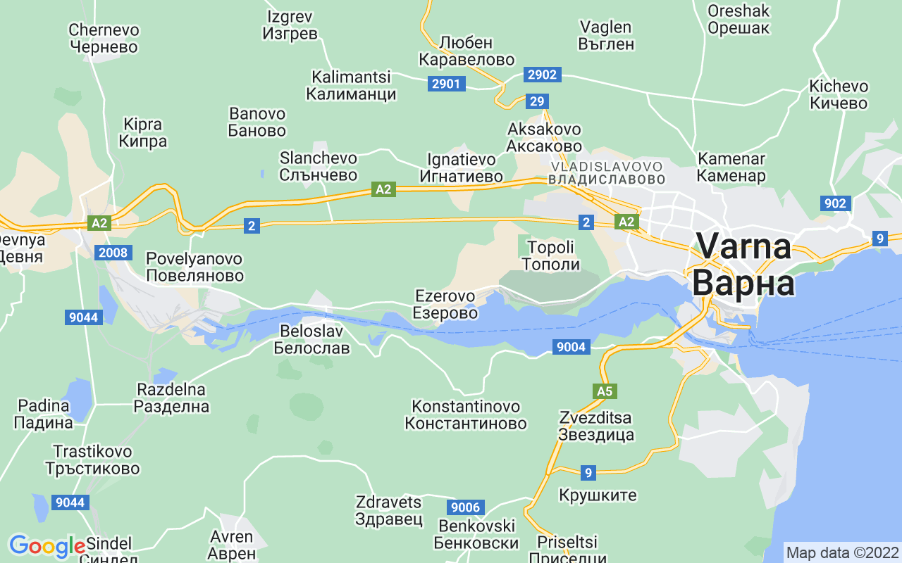 "Google Map of bulevard ""Knyaz Boris I"" 65, Varna, Bulgaria"