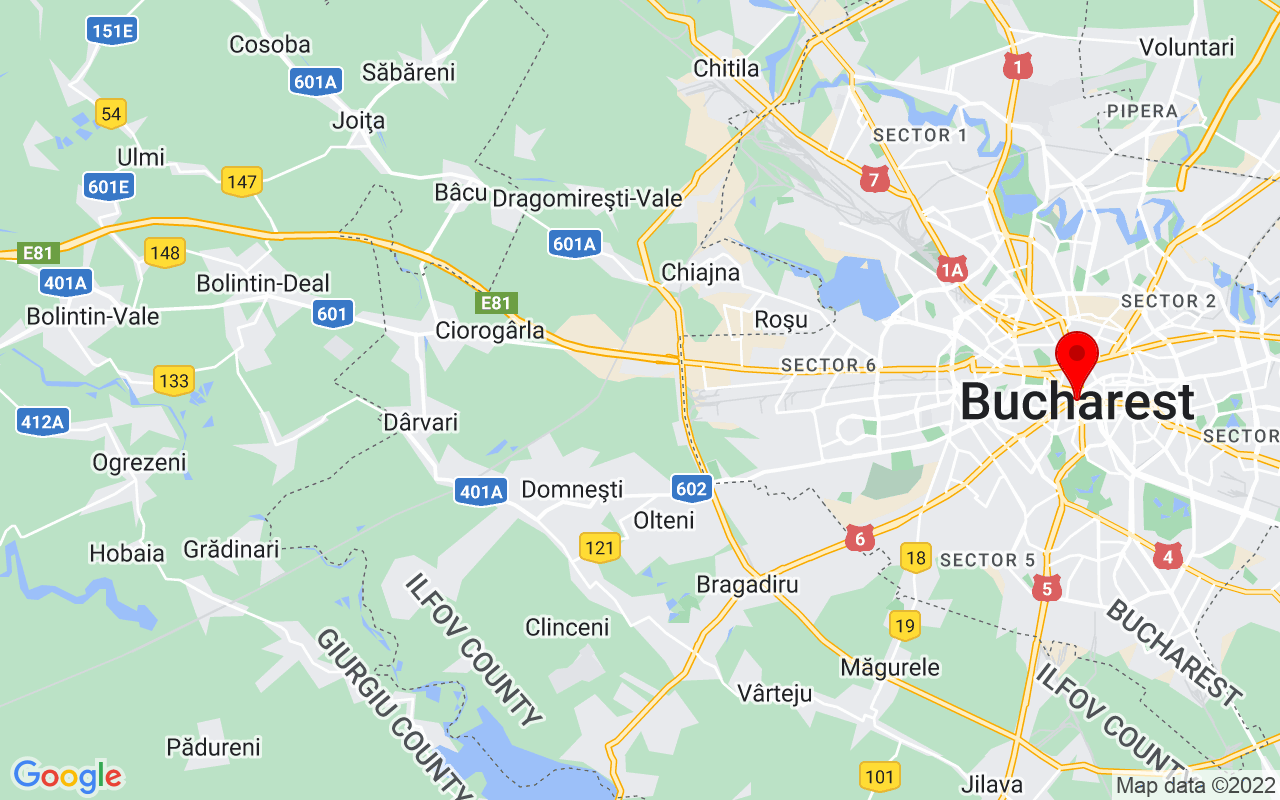 Google Map of Bucharest, Romania