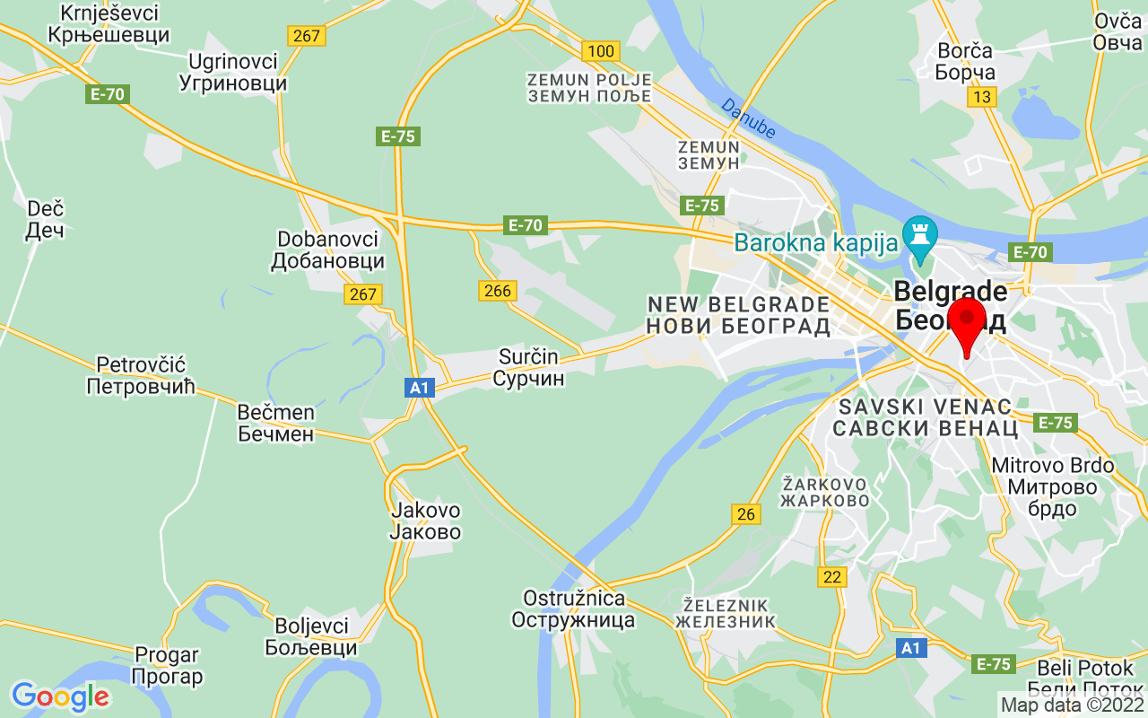 Google Map of National Library of Serbia