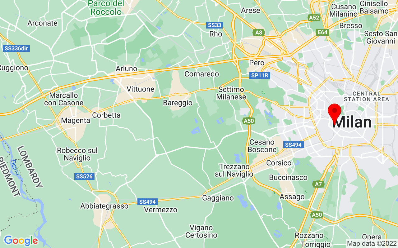 Google Map of 21 Via San Vittore 20123 Milano