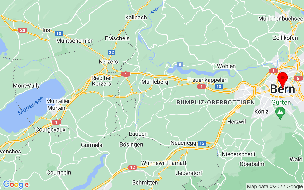 Google Map of Bern, Switzerland