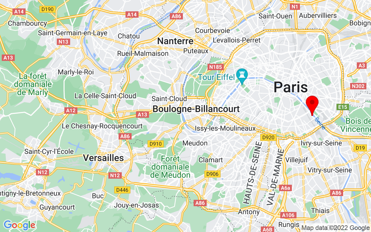 Google Map of François Mauriac St  75013 Paris France