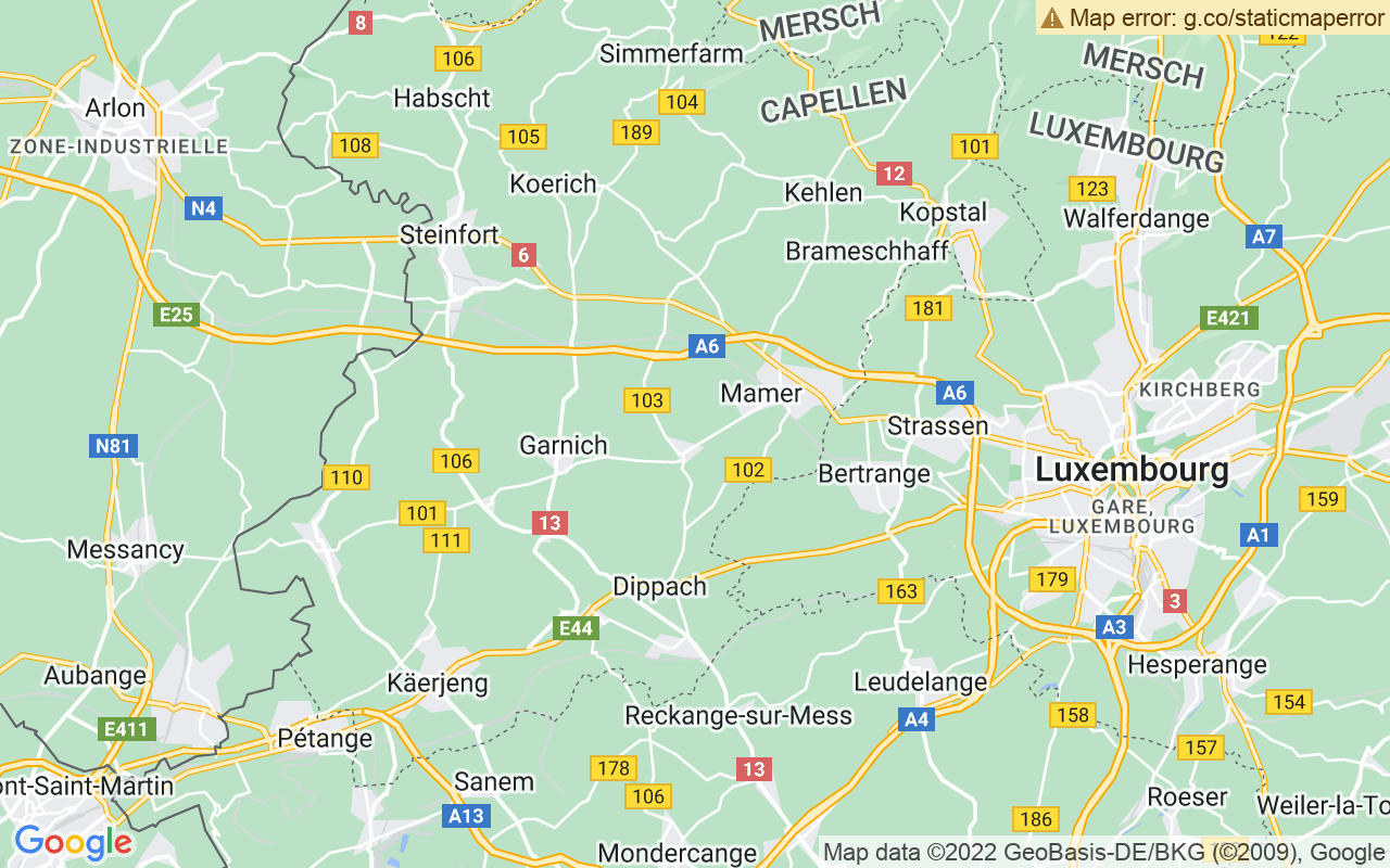 Google Map of 4 Place de l'Europe, 1499 Luxembourg