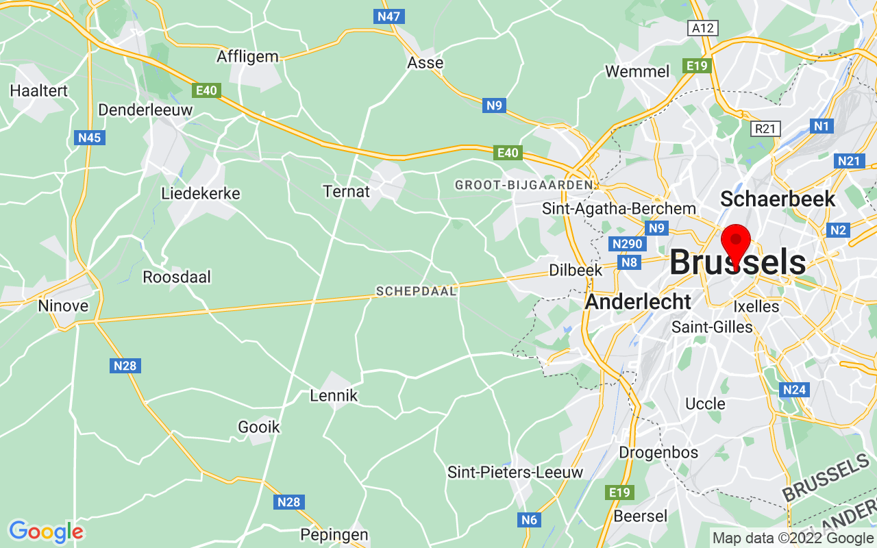 Google Map of Kunstberg, Brussel