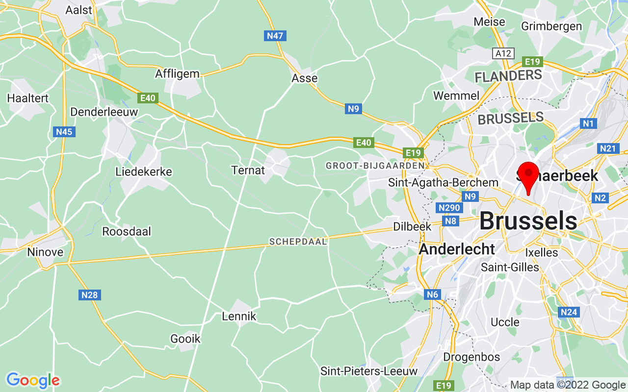 Google Map of Koning Albert II Laan 15, 1210 Brussels