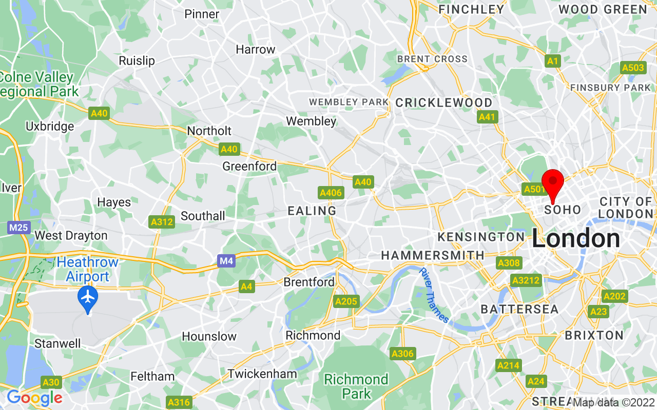 Google Map of London College of Fashion