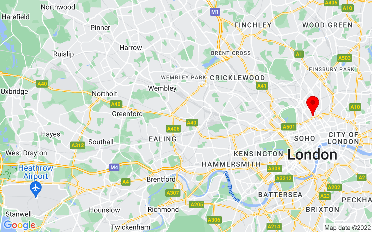 Google Map of St Pancras NW1 2DB London England