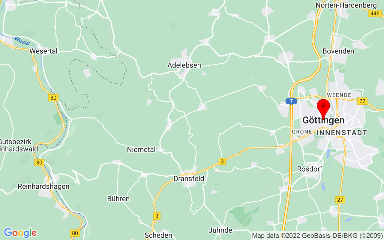 Google Map of Göttingen