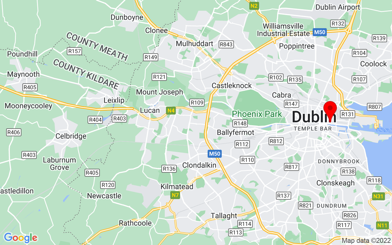 Google Map of The CHQ Building, Custom House Quay, Dublin, Ireland D01 T6K4