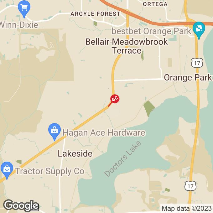 Golden Corral Blanding Blvd., Orange park, FL location map