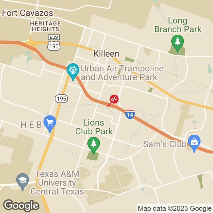Golden Corral E Central Tx Expressway, Killeen, TX location map