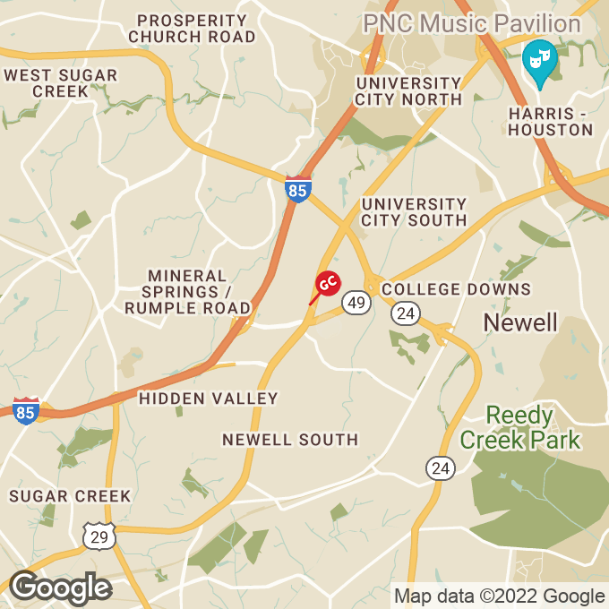 Golden Corral N. Tryon Street, Charlotte, NC location map