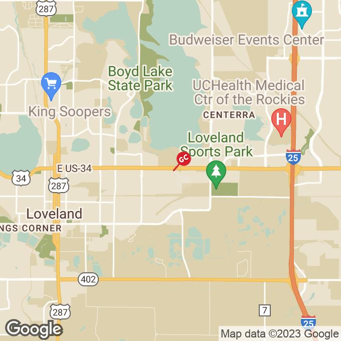 Golden Corral Sculptor Drive, Loveland, CO location map