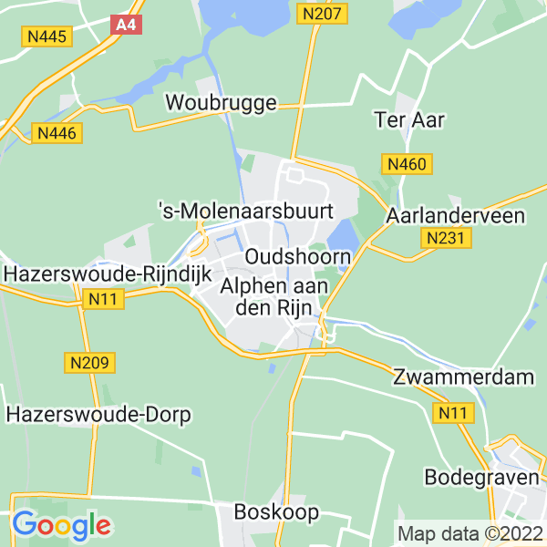 Map of Alphen aan den Rijn