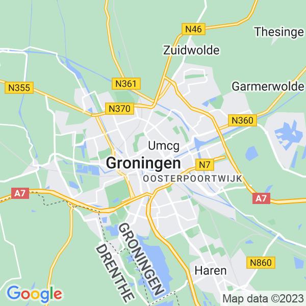 Kaart van Groningen