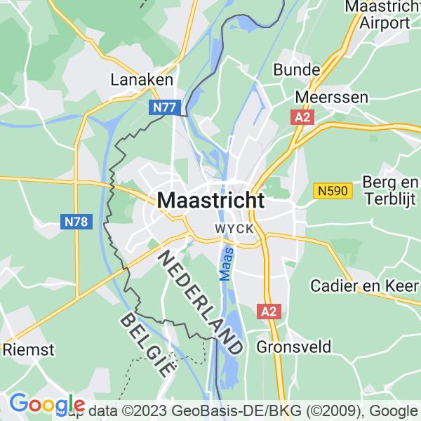 Kaart van Maastricht