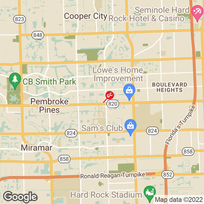 Golden Corral Pines Boulevard, Pembroke pines, FL location map