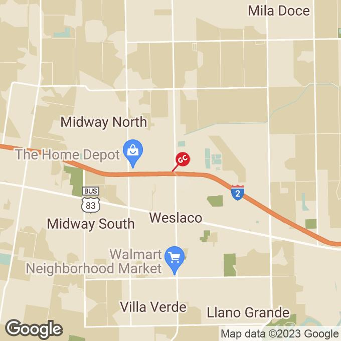 Golden Corral W Expressway 83, Weslaco, TX location map