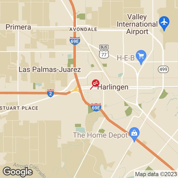Golden Corral W. Tyler Avenue, Harlingen, TX location map