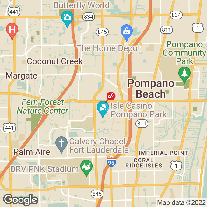 Golden Corral West Atlantic Blvd., Pompano beach, FL location map