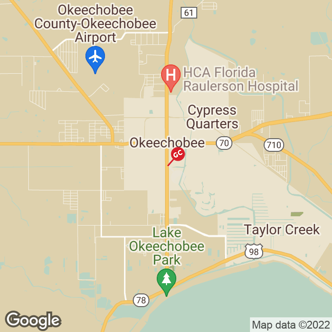 Golden Corral S. Parrott Ave, Okeechobee, FL location map