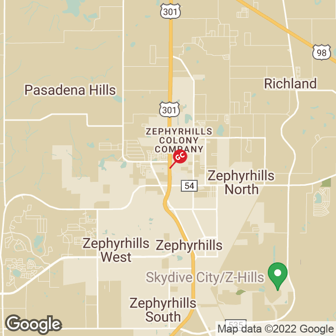 Golden Corral Gall Blvd., Zephyrhills, FL location map