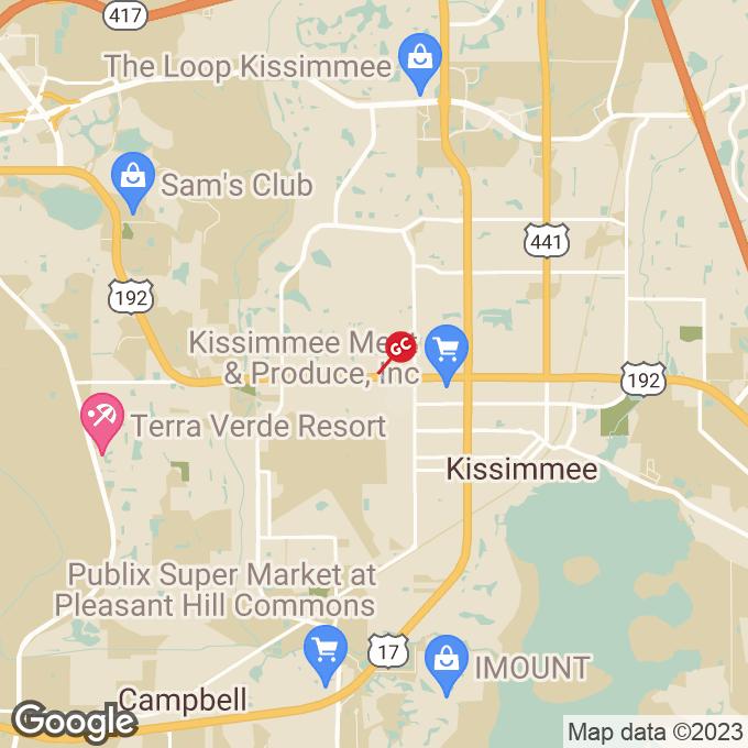 Golden Corral W. Vine Street, Kissimmee, FL location map