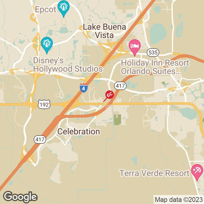 Golden Corral W. Irlo Bronson Memorial, Celebration, FL location map