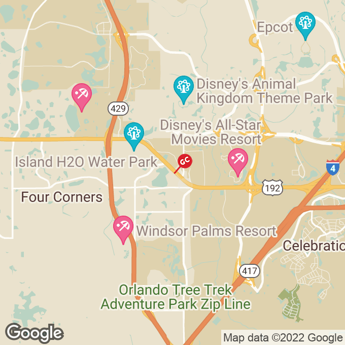 Golden Corral W. Irlo Bronson Hwy., Kissimmee, FL location map