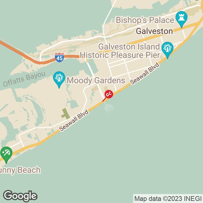Golden Corral Seawall Blvd., Galveston, TX location map